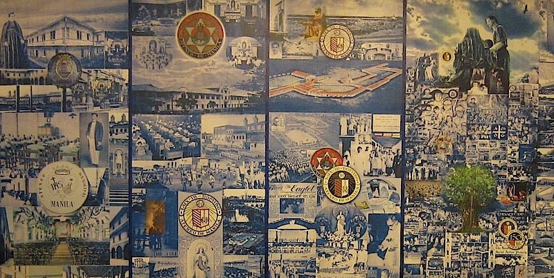 mural inside the Heritage Room of the Ateneo de Manila Grade School