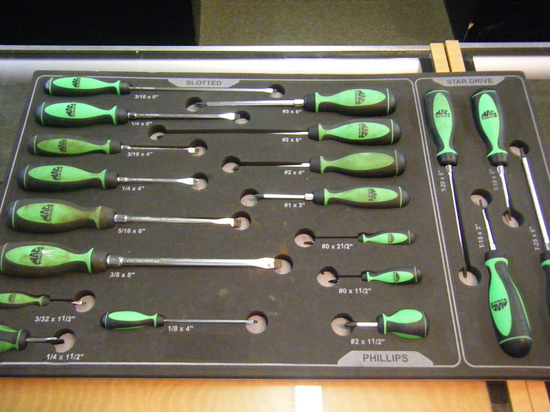 mac tools 20 piece screwdriver set ebay. Black Bedroom Furniture Sets. Home Design Ideas