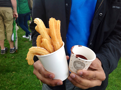 Churros with chocolate. Tapas Fantasticas