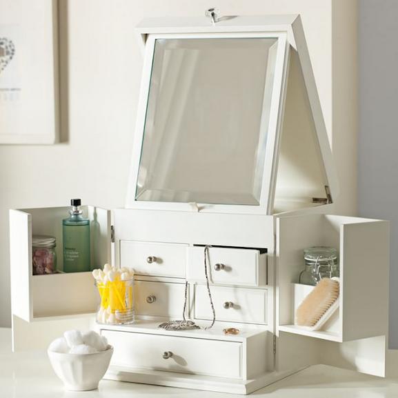 Elegant Multipurpose Makeup & Jewellery Storage Vanity