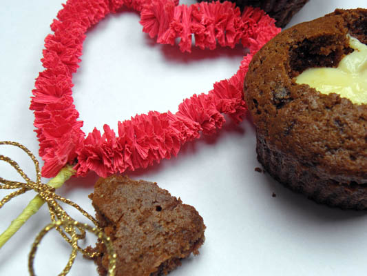 czekoladowe muffiny cupcake na walentynki