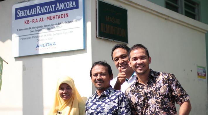 Ancora Foundation representatives and KB-RA Al-Muhtadin administrators