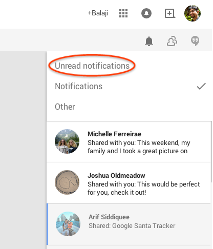 Google+ Notification Bar