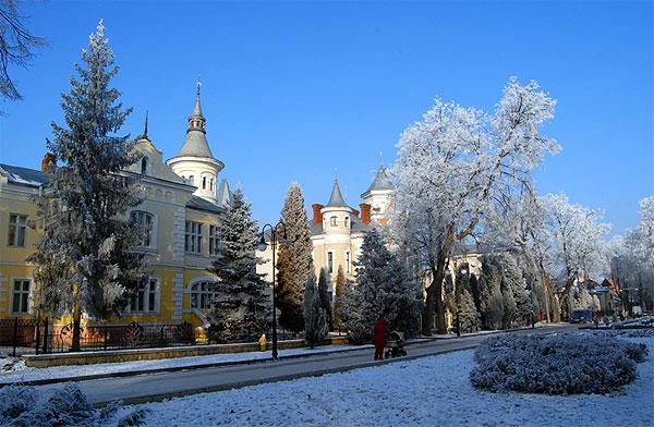 Ivano-Frankivsk in winter