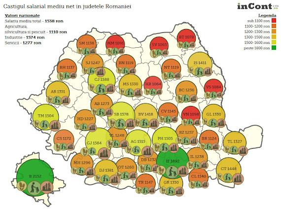 E oficial: în Suceava sunt cele mai mici salarii din ţară
