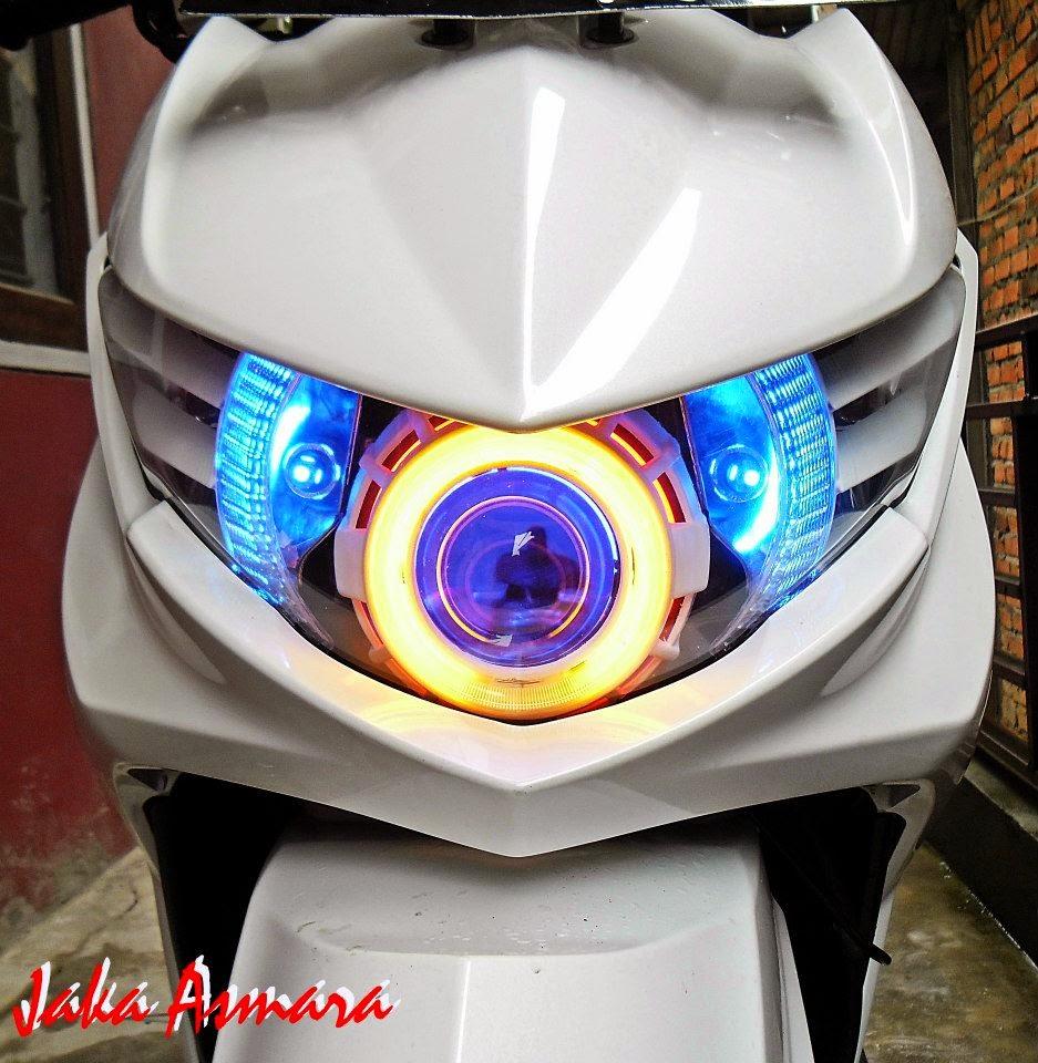Modifikasi Motor Mio Soul Gt Putih