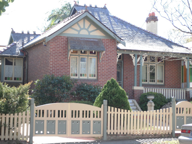 6 Dudley Street Haberfield with sunrise motif in gable