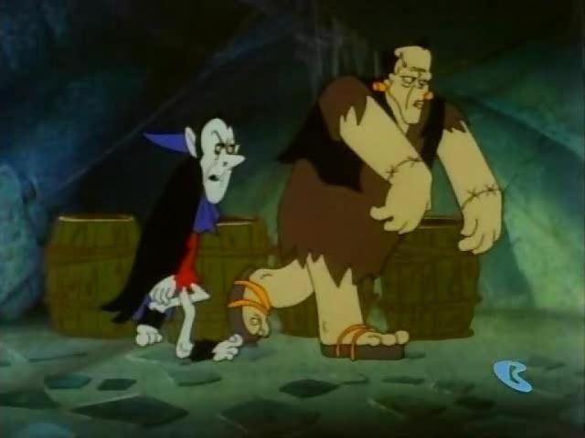 The Flintstones meet Rockula & Frankenstone (Los Picapiedra conocen a Rócula y Frankenston