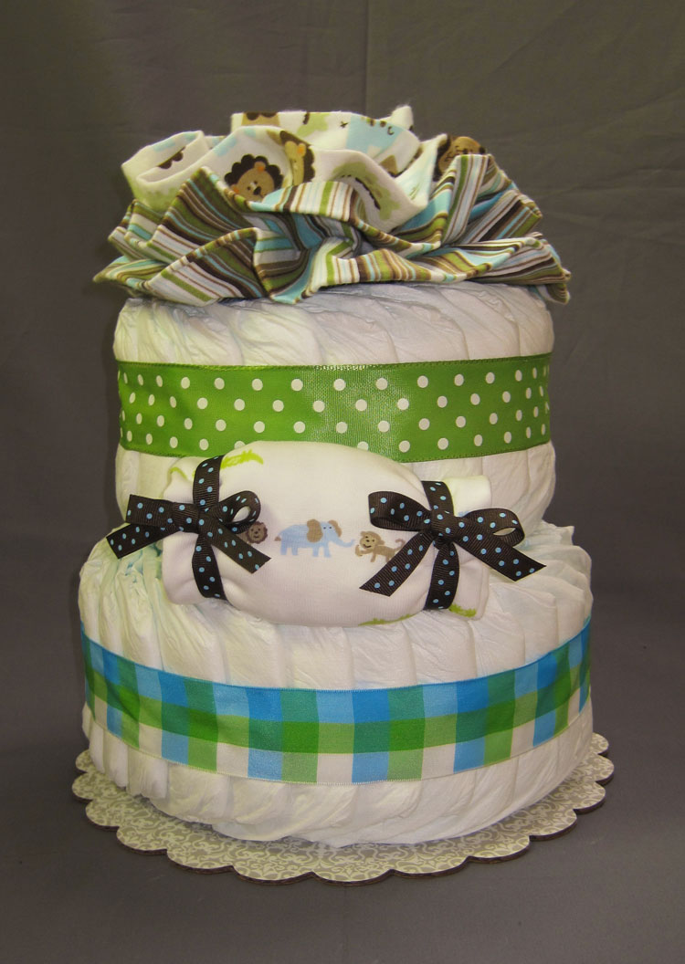 Jungle Safari Yellow Diaper Cake