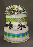 Jungle Safari Blue Diaper Cake