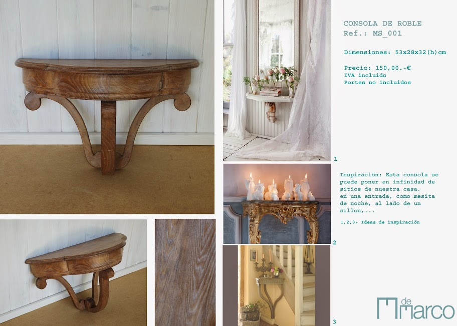 M de marco muebles restaurados shop for Muebles restaurados en blanco