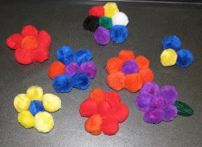 Magnetic Pom Pom flowers