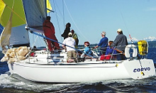 J/33 offshore racing sailboat- sailing Seattle's Puget Sound