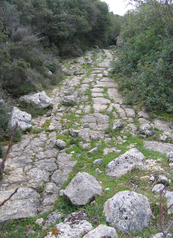 The footpath from Kolyvata to Skaros hill