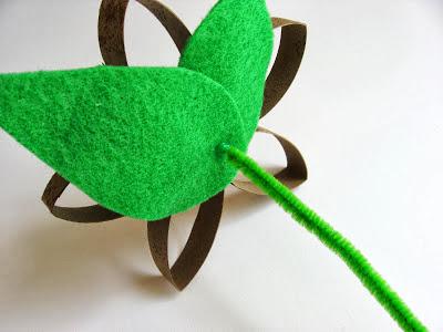 Flor rolo de papel higienico