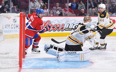 Montreal scores on Bruins goalie Tuukka Rask