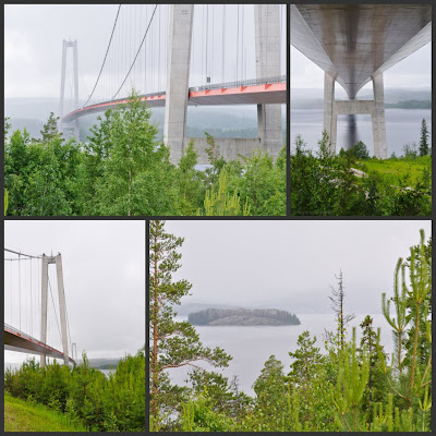 collage of images under the High Coast Bridge