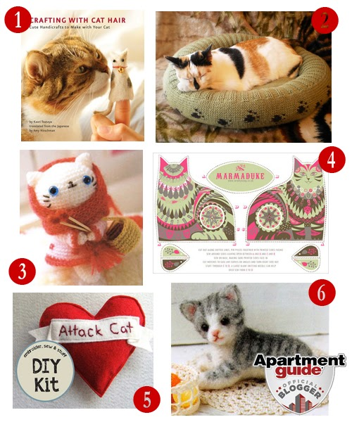 Where Can I Get An Apartment Guide Book: Catsparella: Six Thrifty Ways To Get Your Kitty Cat Craft On