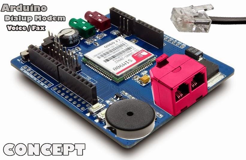 Arduino Dial Up Modem Shield Sparkfun Electronics