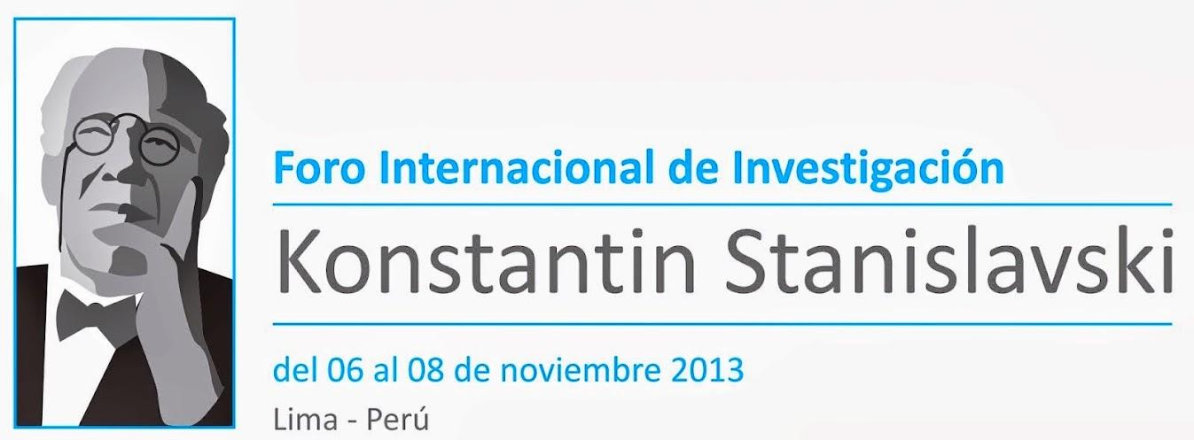 Foro Internacional Stanislavski