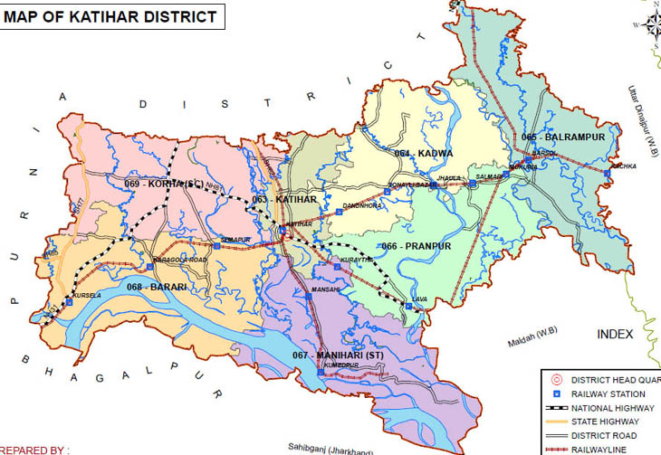 katihar district bihar assembly elections 2015 constituency map image