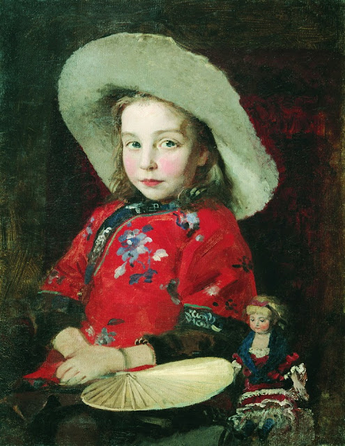 Andrei Ryabushkin - Girl with a doll