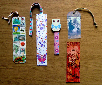 owl, vintage, Shakespeare and stamps bookmarks