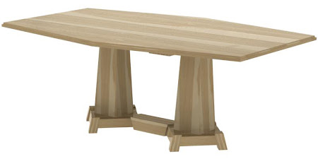 "80"" x 42"" Turin Conference Table in Natural Hickory"