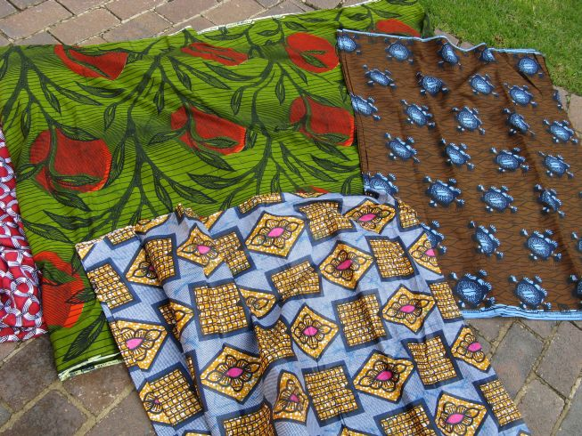 Gone To Smell The Roses Modern African Fabrics