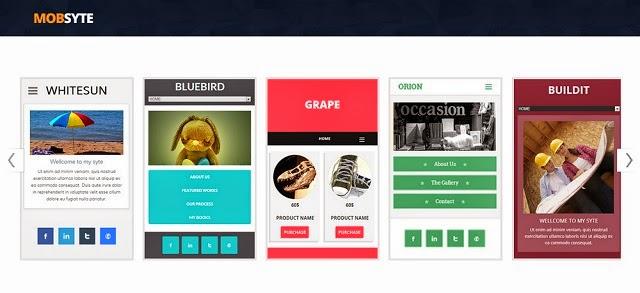 Mobsyte, una herramienta para Crear Sitios Web adaptados a Móviles