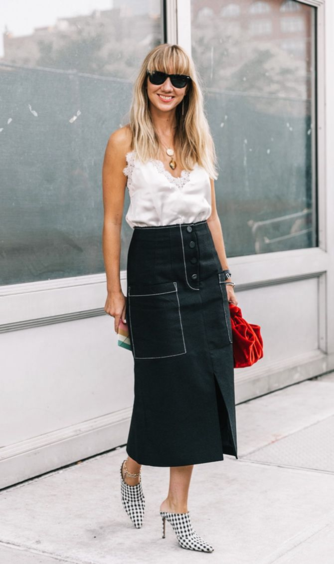 trendy looks, black and white combinations 9