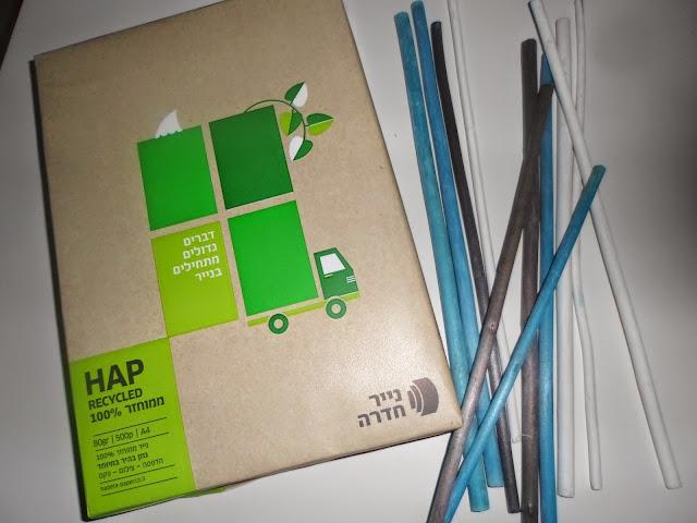 מהפיכת הנייר והמחזור  של קבוצת נייר חדרה- חשבתם A4...