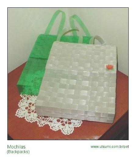 mochilas de garrafas PET