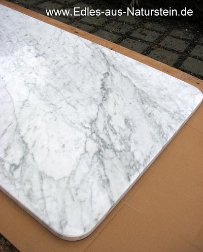 weisser marmor arbeitsplatte cararra marmorplatte f r kommode nachttisch ablage ebay. Black Bedroom Furniture Sets. Home Design Ideas