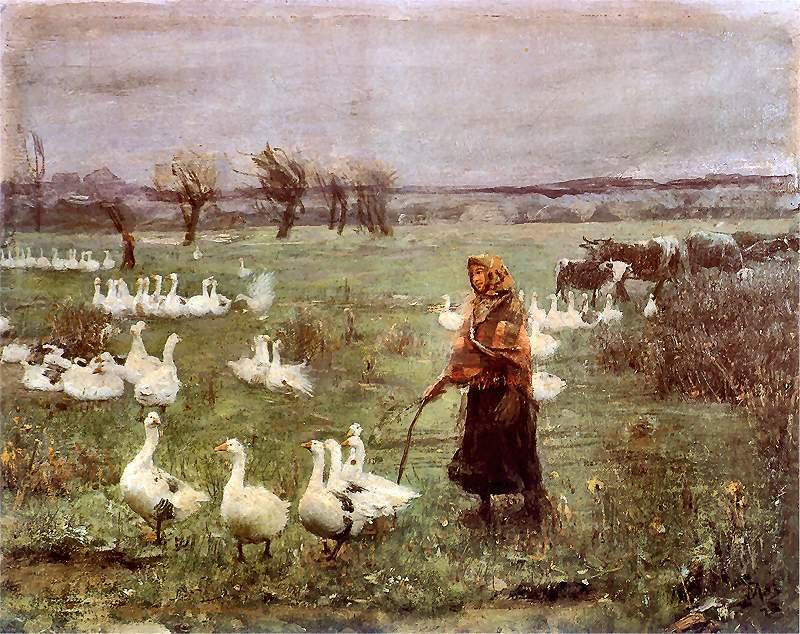 Teodor Axentowicz - The Goose Girl