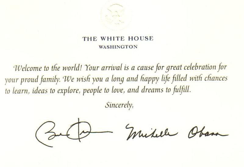 Birthday Card From The President gangcraftnet – Birthday Greeting from the President