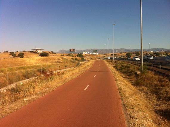 Ruta en bici de Madrid al Puerto de la Morcuera, julio 2012