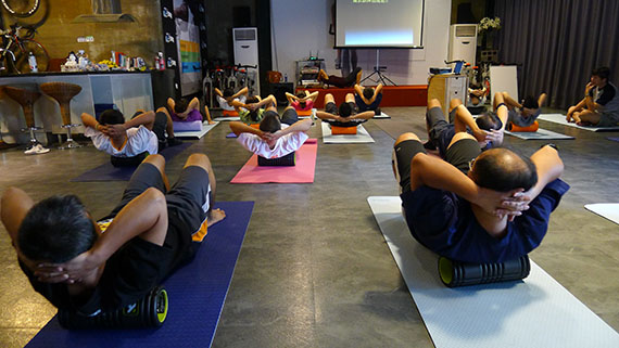 GRID按摩滾輪核心訓練與按摩觀念及操作@花蓮Billy個人教練工作室