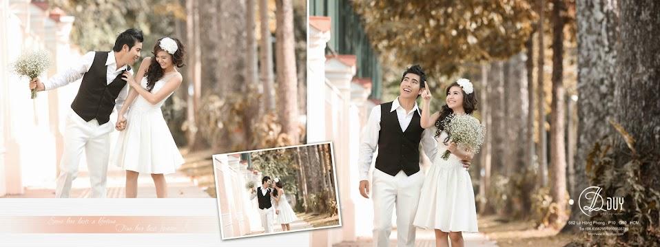 Thiên nhiên đất trời mùa xuân là chủ đề xuyên suốt trong album hình cưới đẹp dịu dàng sắc xuân
