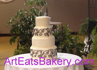 Black And White Wedding Cake 82 Cool Romantic custom off white