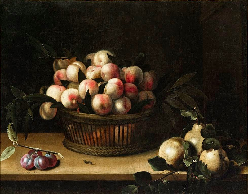 Louise Moillon - Basket of Peaches, with Quinces, and Plums