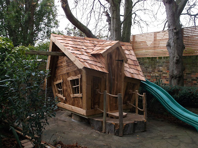 Enchanted creations playhouses treehouses for Whimsical playhouse blueprints
