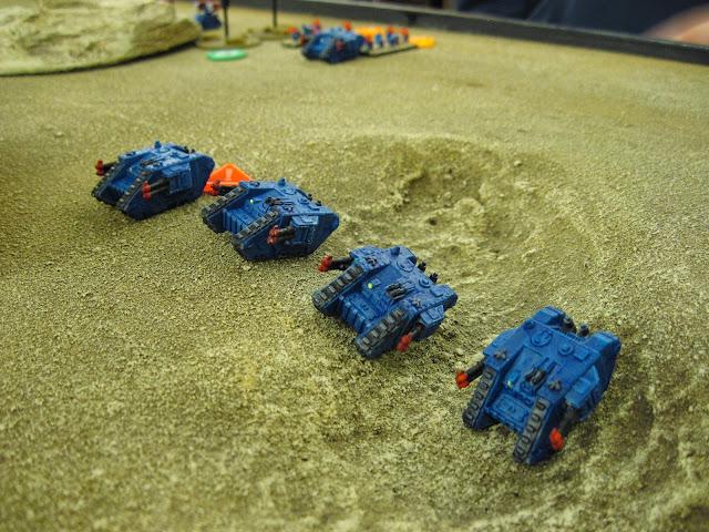 Hal's Land Raiders go off roading.