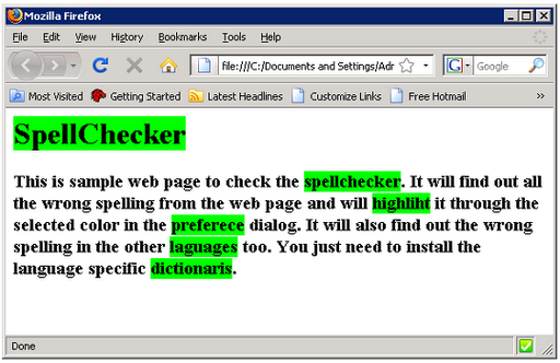 The Spell Checker example