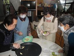 フルーツケーキ作り