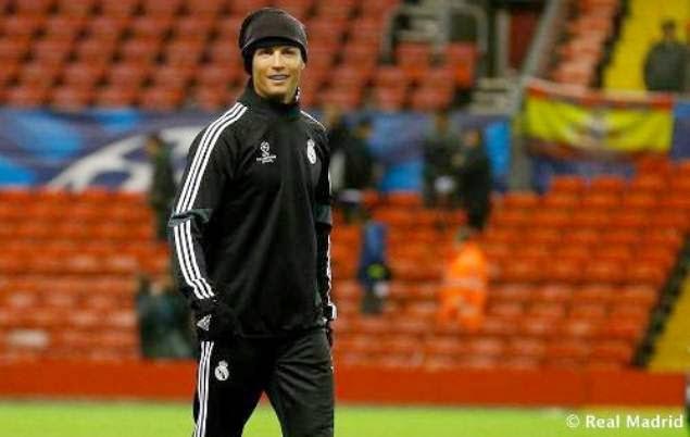 Dàn sao Real Madrid nỗ lực tập luyện ở Anfield
