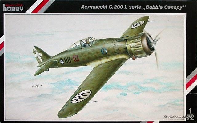 1/72 aeromacchi MC.200 saeta serie I 1ºstormo 6º gruppo 88ªscu. Art-box