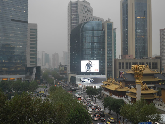 Old Navy store next to the Jing'an Temple in Shanghai