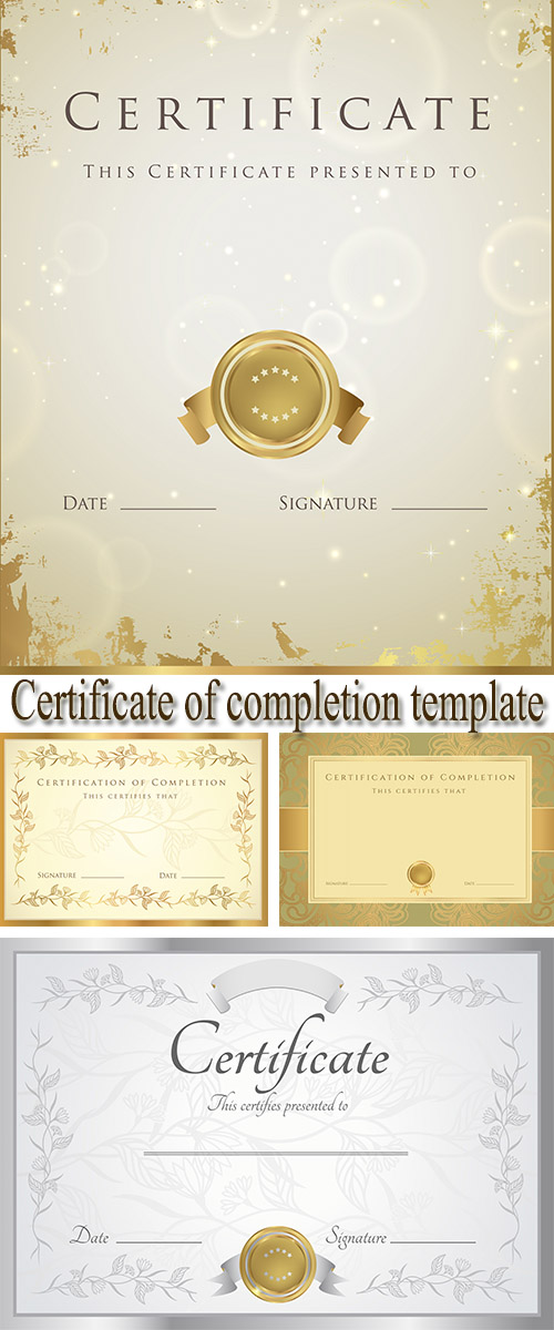 Stock: Certificate of completion template