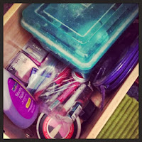 Liz's makeup drawer